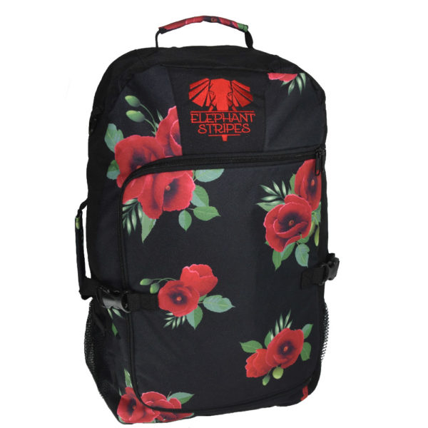 Wild Poppies 45l Carry On Travel Pack Elephant Stripes