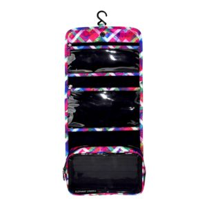 Floral Chevron Hanging Toiletry Bag