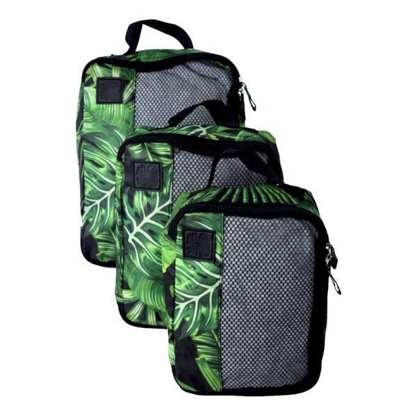 84b2e0da96e9 3 PACK Rainforest Packing Cells | Elephant Stripes | Travel in Style