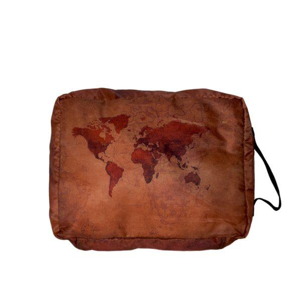 3 Pack Vintage World Map Packing Cells Elephant Stripes