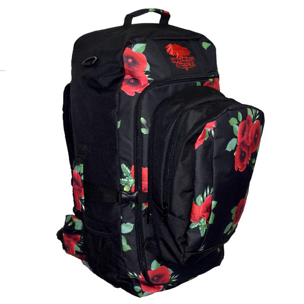 wild poppies 65L travel pack with day pack