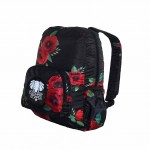wild poppies fold up daypack