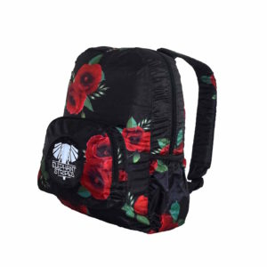 Wild Poppies Fold-Up Daypack