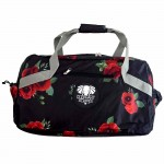 wild poppies fold up overnighter bag