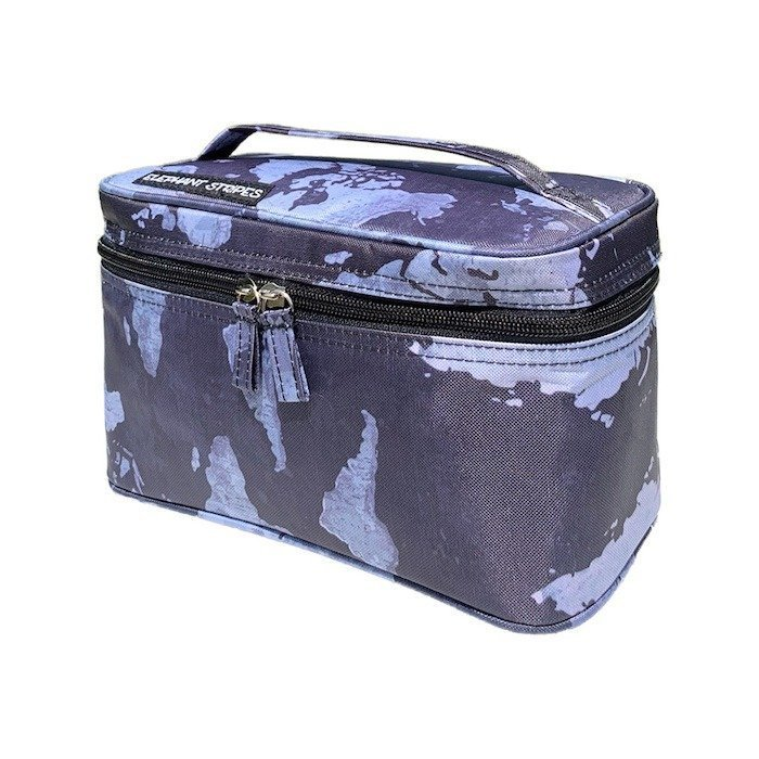 map pattern toiletry bag