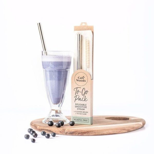 caliwoods stainless smoothie straw