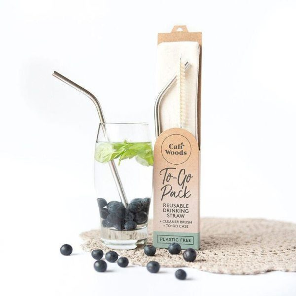 caliwoods stainless drinking straw