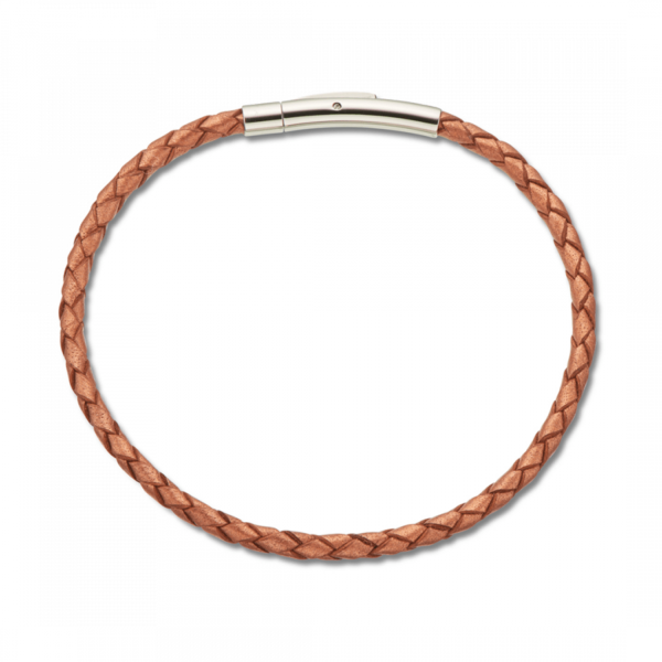 palas fine leather copper bracelet