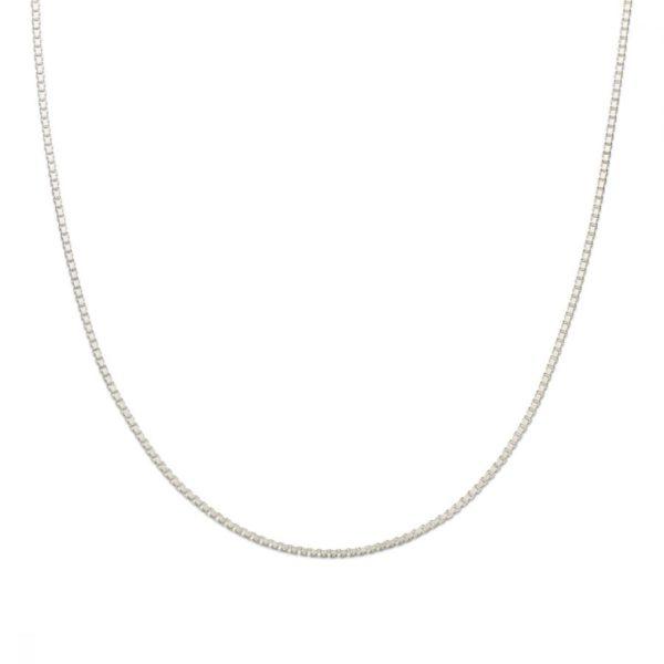 palas silver box chain