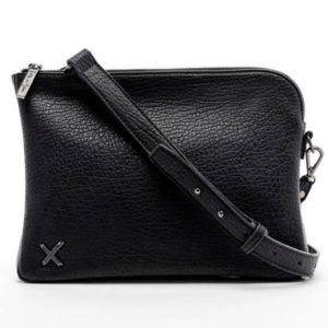 black oversized clutch by home-lee