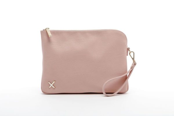 blush oversized clutch by home-lee