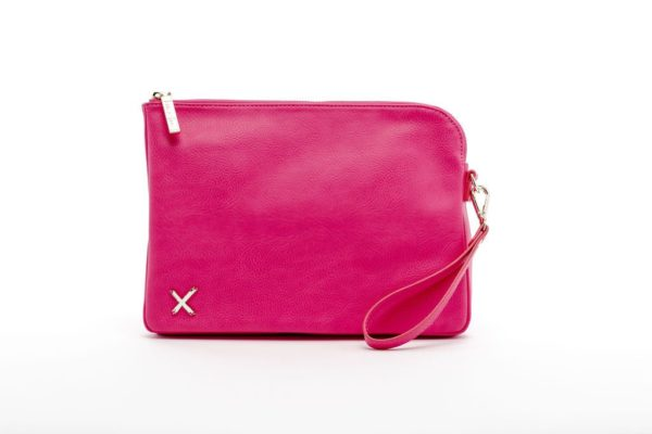 Raspberry oversized clutch by home-lee