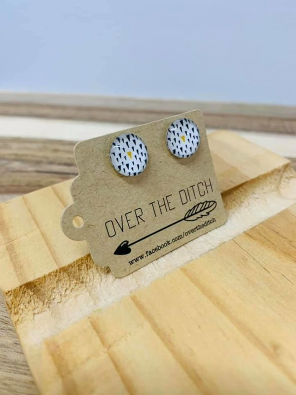 field of pines dome earrings by over the ditch