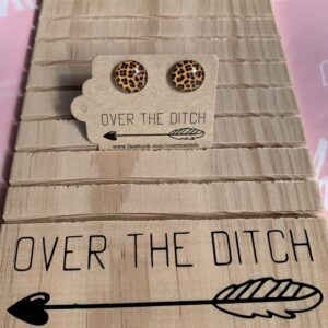 Leopard Dome earrings by over the ditch