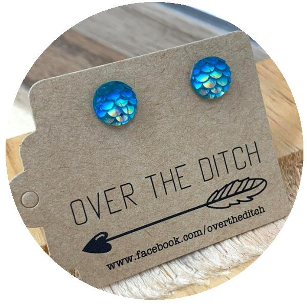 Ocean Dragon Studs by Over the ditch