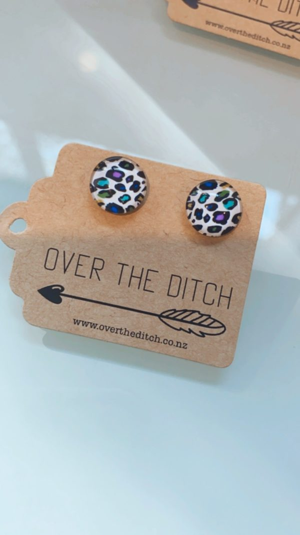 jungle leopard dome earring by over the ditch