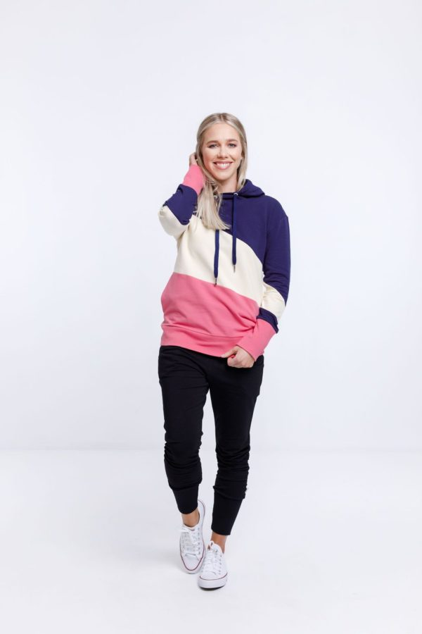 portia hoodie in blue vanilla and fruit dove by home-lee