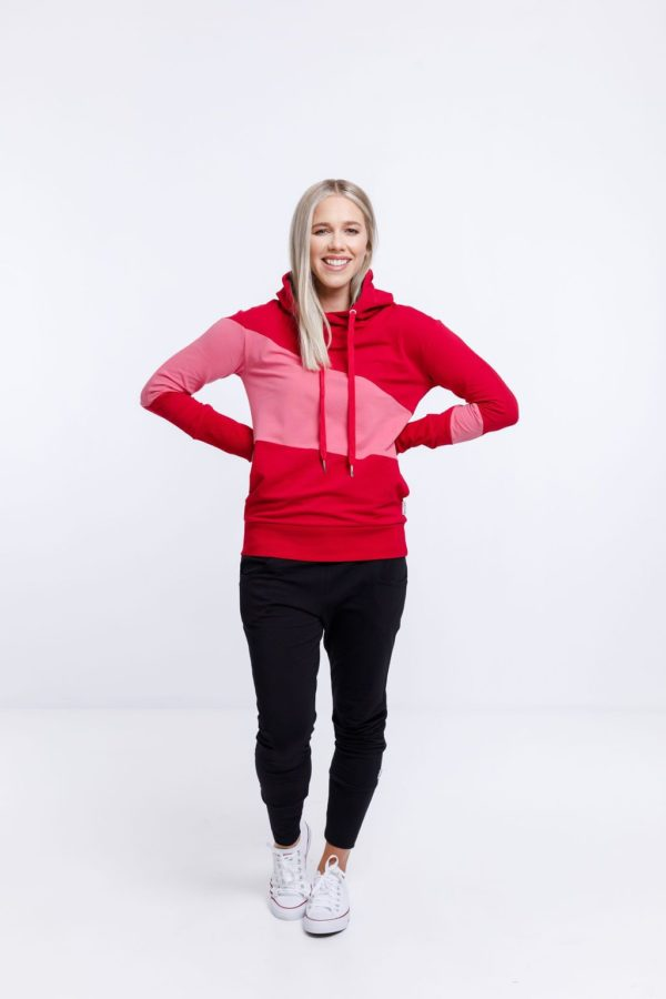 Portia hoodie in chilli by home-lee